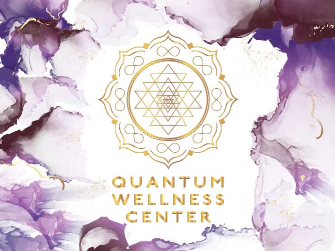 Quantum Wellness Center logo on background